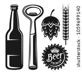 set of beer elements and... | Shutterstock .eps vector #1059699140