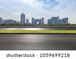 empty road with modern business ... | Shutterstock . vector #1059699218