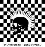 punk skull on the black and...   Shutterstock .eps vector #1059699860