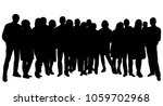 silhouette of a crowd of people | Shutterstock .eps vector #1059702968