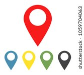 set of map pointers icons. gps... | Shutterstock .eps vector #1059704063