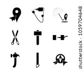 icon instruments and tools with ...   Shutterstock .eps vector #1059704648