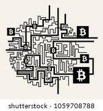 bitcoin vector illustration... | Shutterstock .eps vector #1059708788