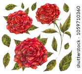 watercolor and mixed media set... | Shutterstock . vector #1059710360