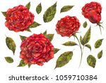 watercolor and mixed media set... | Shutterstock . vector #1059710384