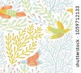 vector floral seamless pattern... | Shutterstock .eps vector #1059712133