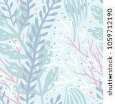vector floral seamless pattern... | Shutterstock .eps vector #1059712190