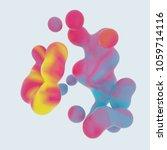 generative colorful 3d rendered ... | Shutterstock . vector #1059714116