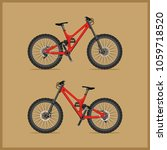 modern full suspension bike for ... | Shutterstock .eps vector #1059718520