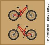 modern full suspension bike for ... | Shutterstock .eps vector #1059718520