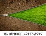 open zipper with dry soil on... | Shutterstock . vector #1059719060