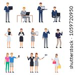 set of business people with... | Shutterstock .eps vector #1059720950