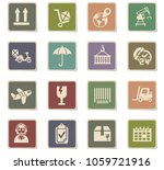 logistic web icons for user... | Shutterstock .eps vector #1059721916