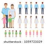 happy family creation kit.... | Shutterstock .eps vector #1059723329