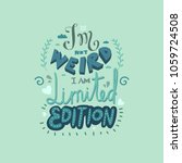 funny hand drawn vector... | Shutterstock .eps vector #1059724508