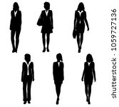 vector silhouettes women...   Shutterstock .eps vector #1059727136