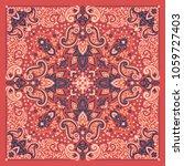 paisley bandana print | Shutterstock .eps vector #1059727403