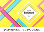 modern geometric with stripes... | Shutterstock .eps vector #1059729203