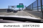 pov front windshield car view... | Shutterstock . vector #1059729350