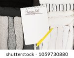 packing of monochrome clothes...   Shutterstock . vector #1059730880