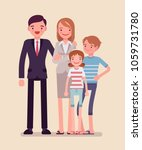 happy family portrait. social... | Shutterstock .eps vector #1059731780