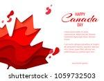 happy canada day vector holiday ... | Shutterstock .eps vector #1059732503