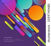 rounded and circular objects.... | Shutterstock .eps vector #1059740480