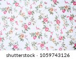 texture of white fabric. with a ... | Shutterstock . vector #1059743126