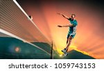 male professional volleyball... | Shutterstock . vector #1059743153