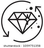precious moment diamond icon as ... | Shutterstock .eps vector #1059751358