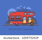 recreational vehicle  rv near... | Shutterstock .eps vector #1059752429