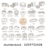 set of isolated sketches of... | Shutterstock .eps vector #1059752438