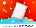 vector 3d realistic corner wall ... | Shutterstock .eps vector #1059754343