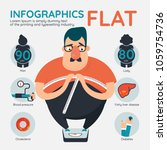 infographics fat vector | Shutterstock .eps vector #1059754736