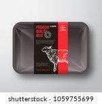 premium quality lamb meat... | Shutterstock .eps vector #1059755699