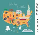 map of usa vector illustration  ... | Shutterstock .eps vector #1059756386