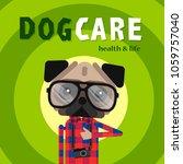 dog care concept design  pet... | Shutterstock .eps vector #1059757040
