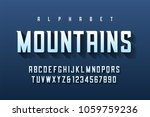 condensed retro display font... | Shutterstock .eps vector #1059759236