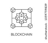 blockchain vector icon or... | Shutterstock .eps vector #1059759839