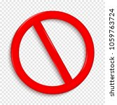 no sign. isolated on...   Shutterstock .eps vector #1059763724