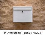 White Postbox In White Metall...