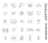 business team work icon set | Shutterstock .eps vector #1059779753