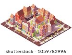 vector low poly isometric old... | Shutterstock .eps vector #1059782996