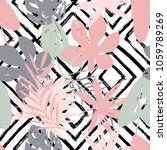 abstract trendy floral seamless ... | Shutterstock .eps vector #1059789269