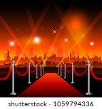 new york city movie red carpet... | Shutterstock .eps vector #1059794336