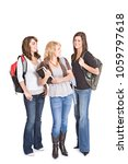 group of caucasian high school... | Shutterstock . vector #1059797618