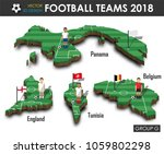 national soccer teams group g . ... | Shutterstock .eps vector #1059802298