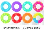 swim rings set. inflatable... | Shutterstock .eps vector #1059811559