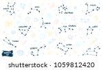 constellation doodles. zodiac... | Shutterstock .eps vector #1059812420