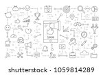 smm icons set. linear... | Shutterstock .eps vector #1059814289
